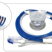 Дыхательный контур гладкоствольный с интегрированным проводом обогрева в линиях вдоха и выдоха